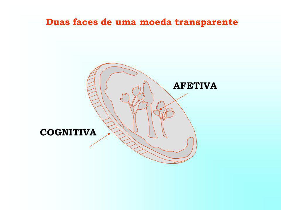 Duas faces de uma moeda transparente