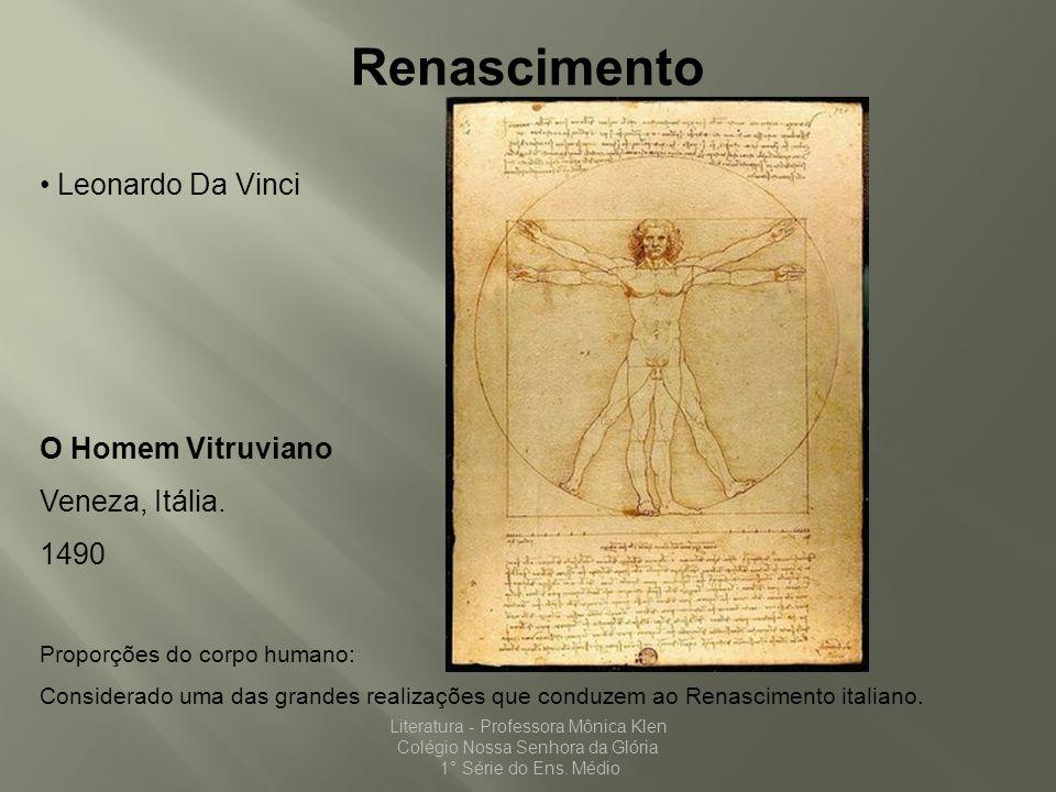 Renascimento Leonardo Da Vinci O Homem Vitruviano Veneza, Itália. 1490