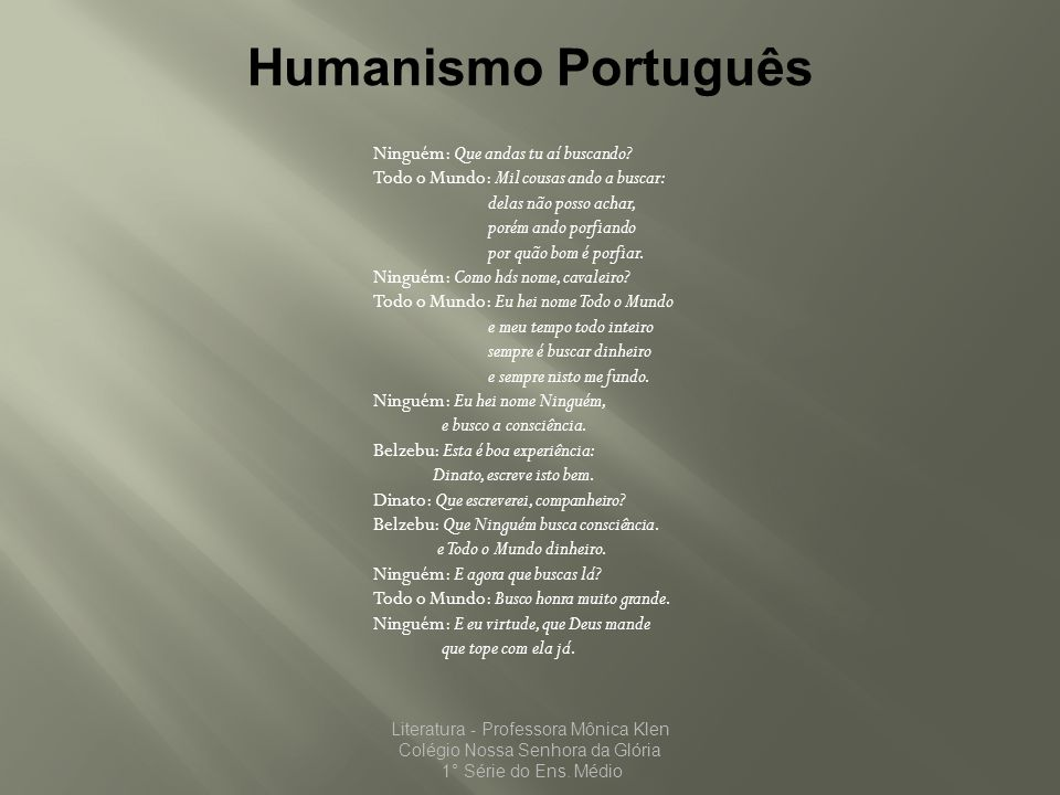 Humanismo Português