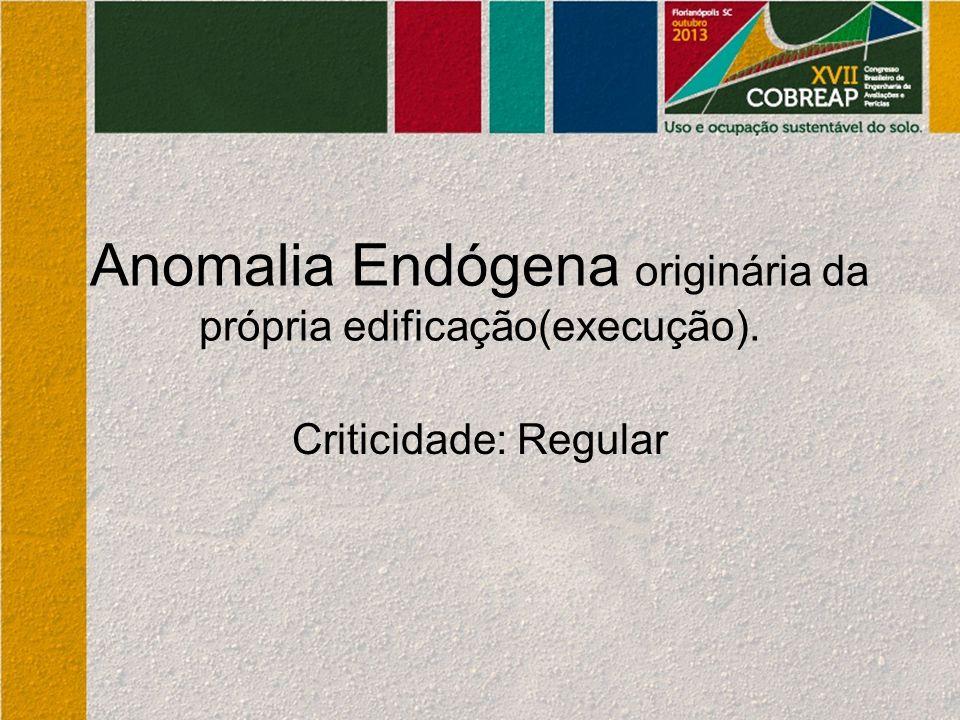 Anomalia Endógena originária da própria edificação(execução).