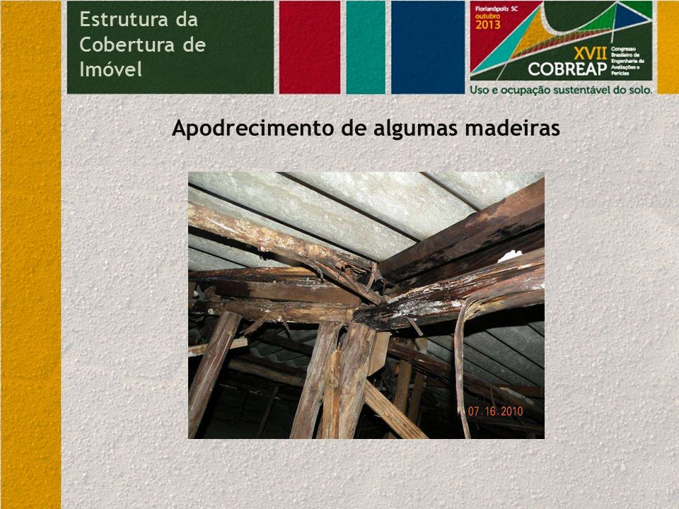 Apodrecimento de algumas madeiras