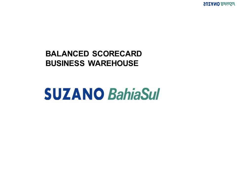 BALANCED SCORECARD BUSINESS WAREHOUSE