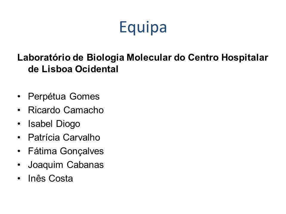 Equipa Laboratório de Biologia Molecular do Centro Hospitalar de Lisboa Ocidental. Perpétua Gomes.