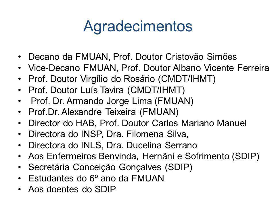 Agradecimentos Decano da FMUAN, Prof. Doutor Cristovão Simões
