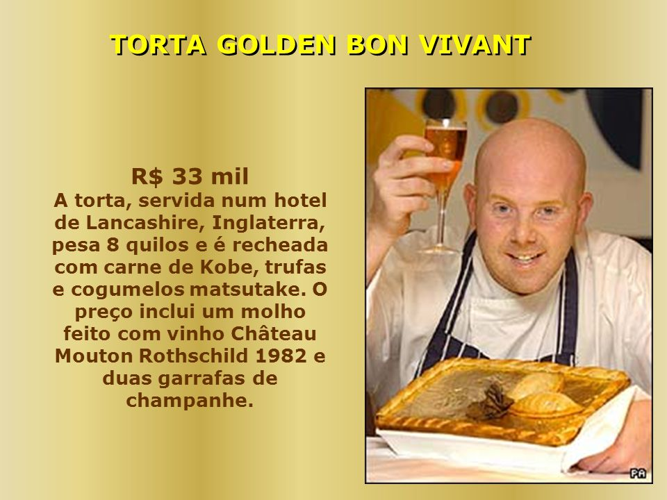 TORTA GOLDEN BON VIVANT