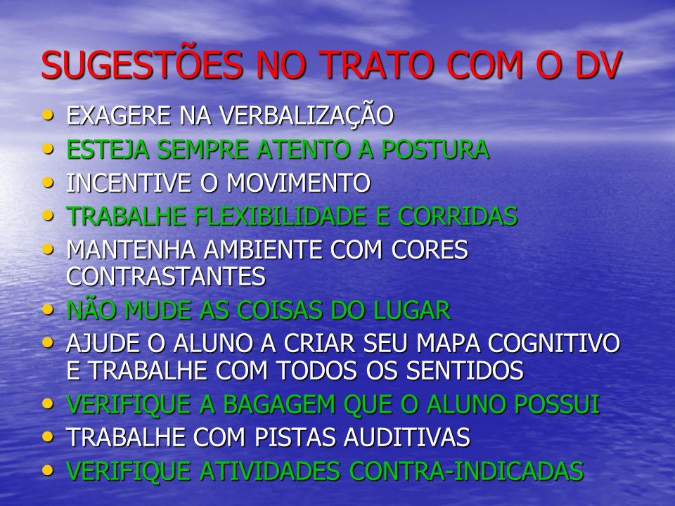 SUGESTÕES NO TRATO COM O DV