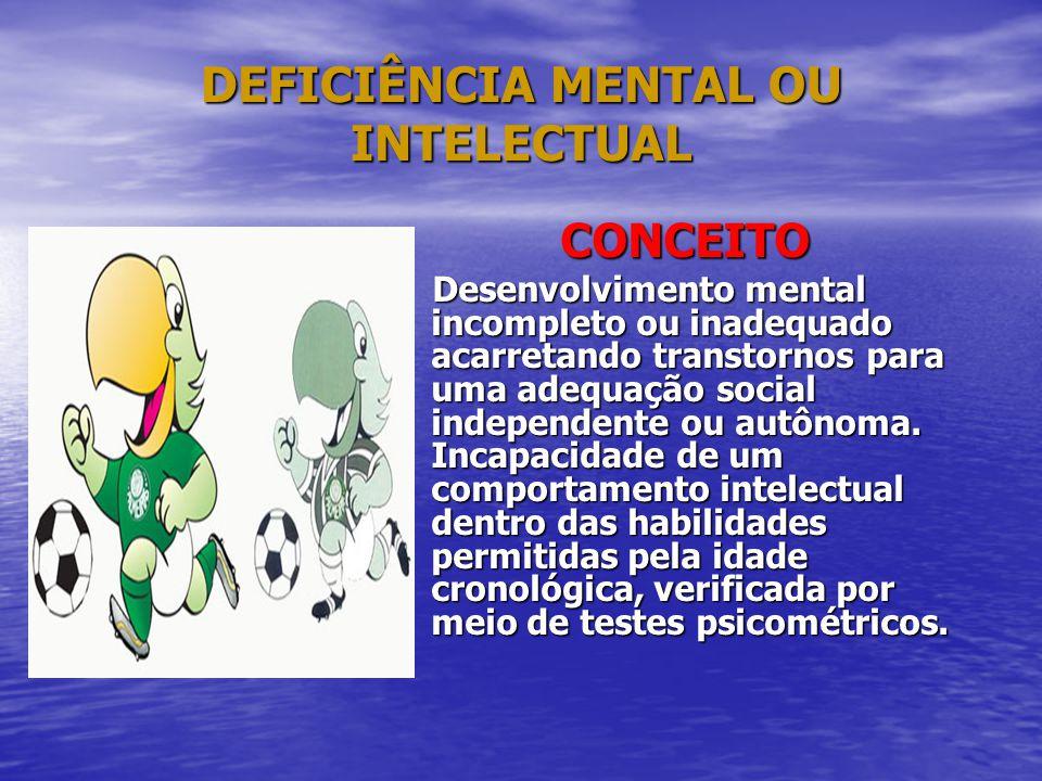 DEFICIÊNCIA MENTAL OU INTELECTUAL
