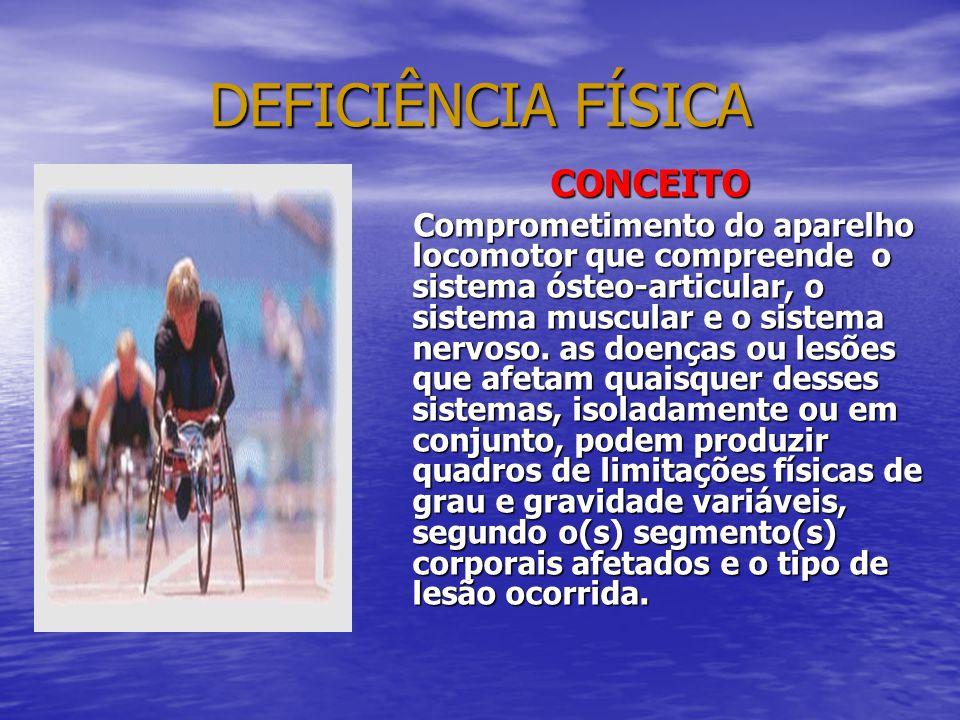 DEFICIÊNCIA FÍSICA CONCEITO