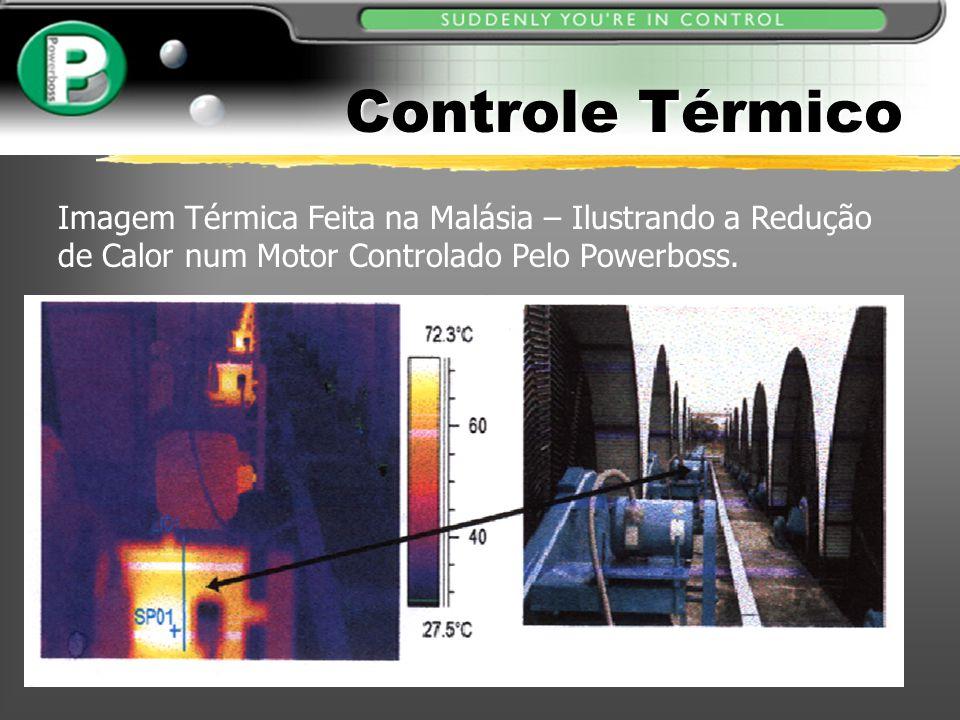 Controle Térmico Imagem Térmica Feita na Malásia – Ilustrando a Redução de Calor num Motor Controlado Pelo Powerboss.