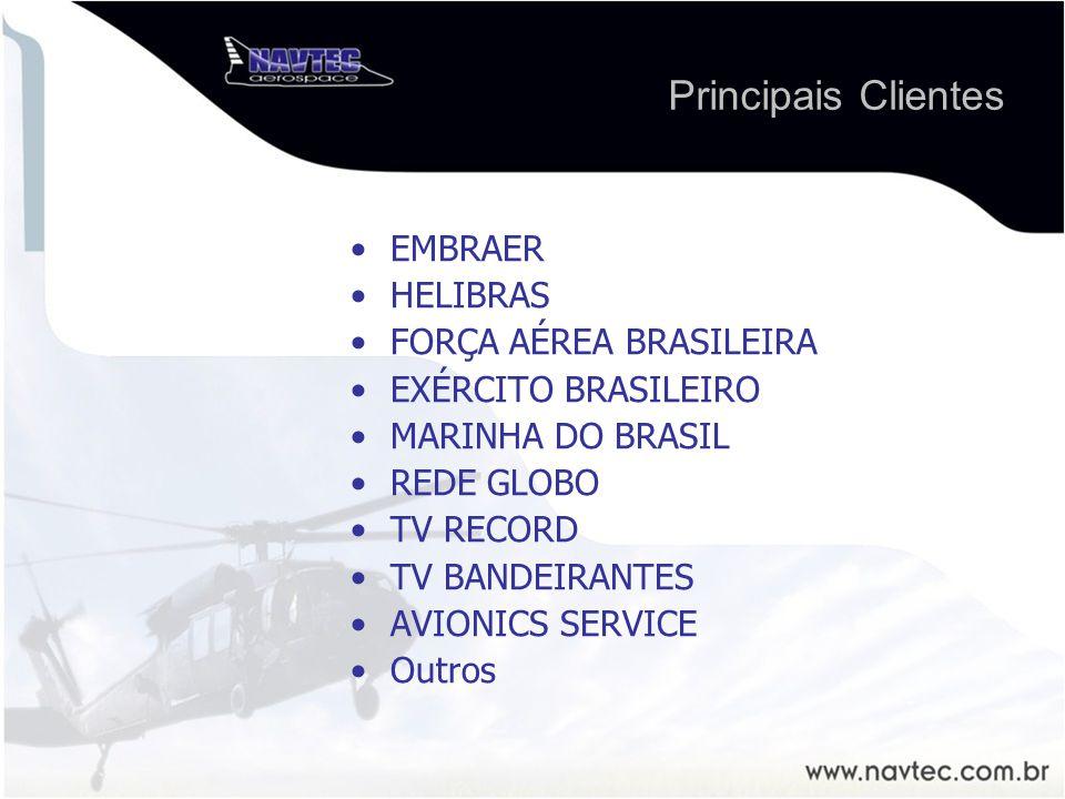 Principais Clientes EMBRAER HELIBRAS FORÇA AÉREA BRASILEIRA