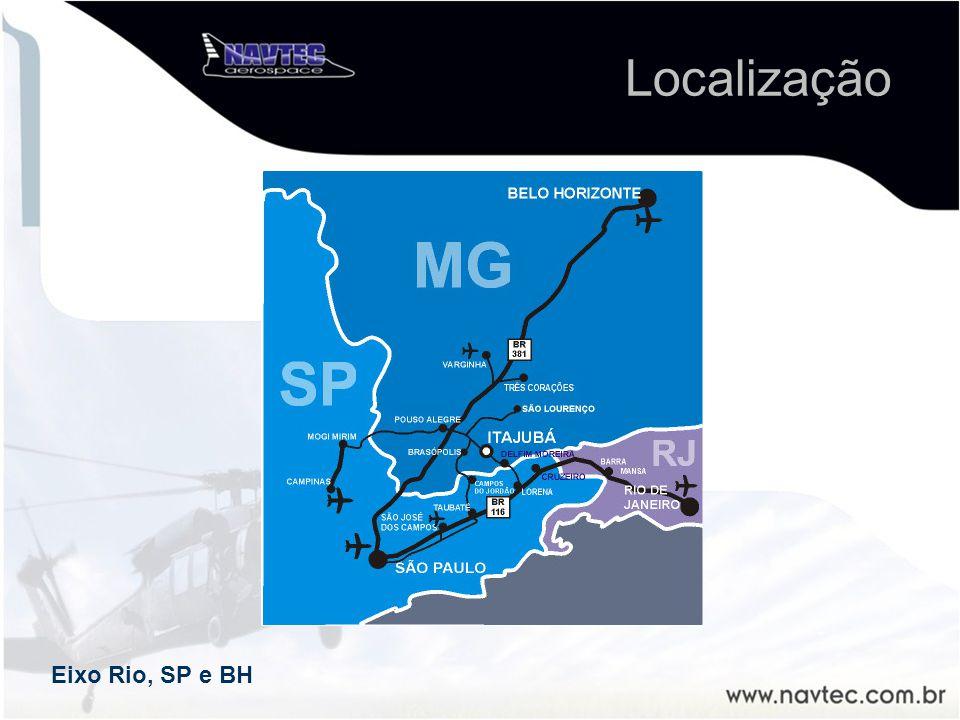 Localização Eixo Rio, SP e BH