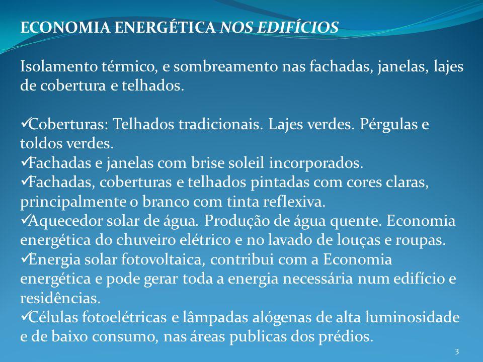 ECONOMIA ENERGÉTICA NOS EDIFÍCIOS