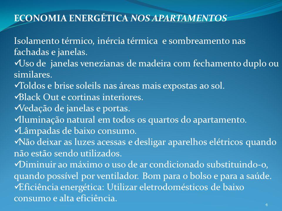 ECONOMIA ENERGÉTICA NOS APARTAMENTOS