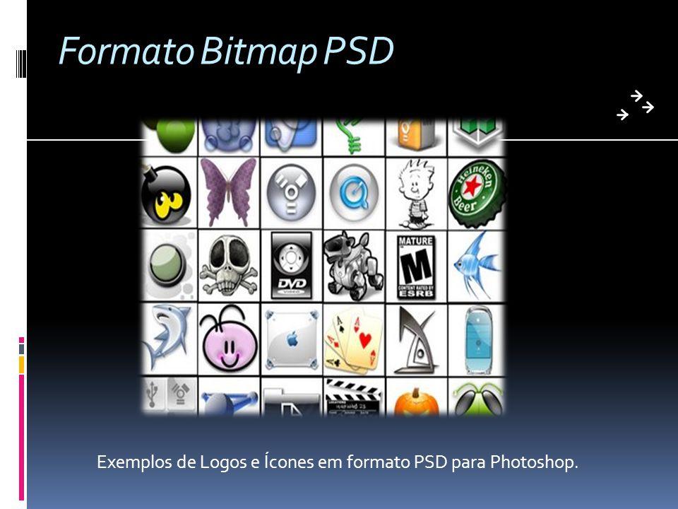 Formato Bitmap PSD Exemplos de Logos e Ícones em formato PSD para Photoshop.