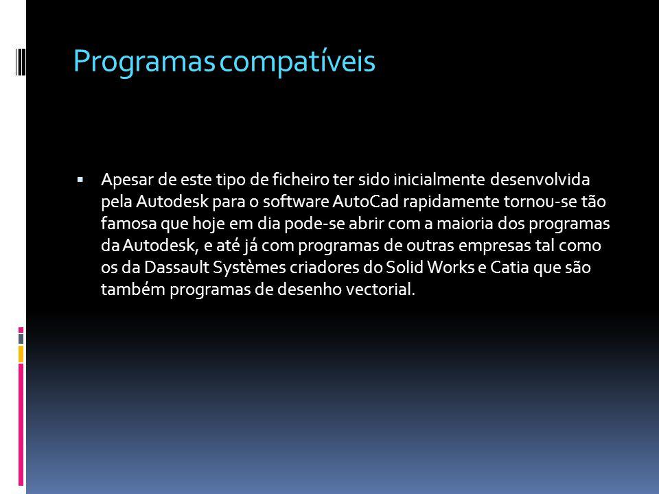 Programas compatíveis