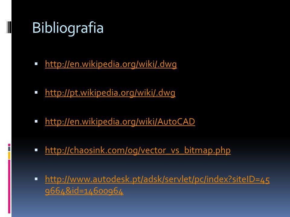 Bibliografia http://en.wikipedia.org/wiki/.dwg