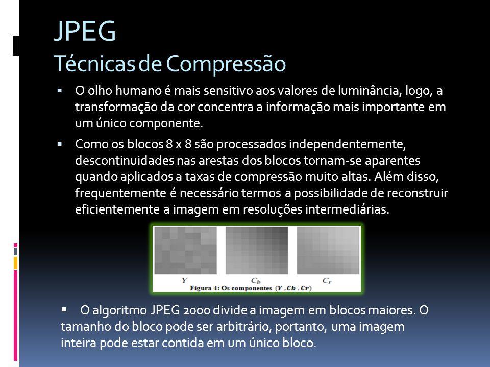 JPEG Técnicas de Compressão