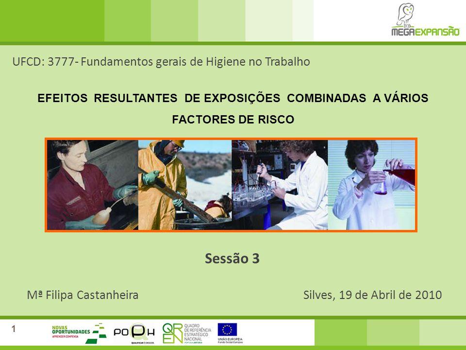 Sessão 3 UFCD: 3777- Fundamentos gerais de Higiene no Trabalho