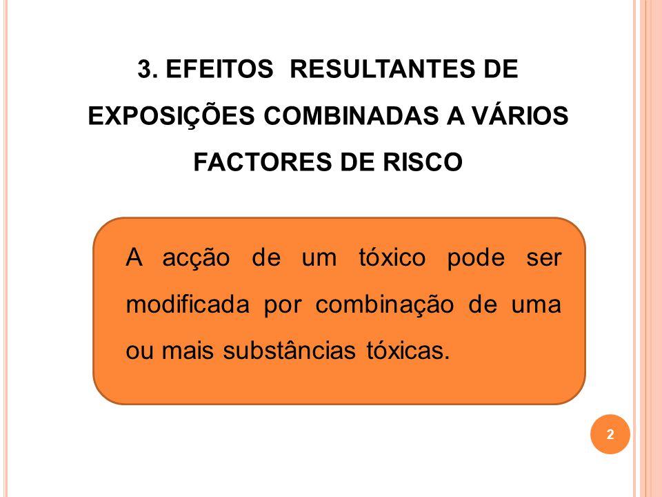 3. EFEITOS RESULTANTES DE EXPOSIÇÕES COMBINADAS A VÁRIOS FACTORES DE RISCO