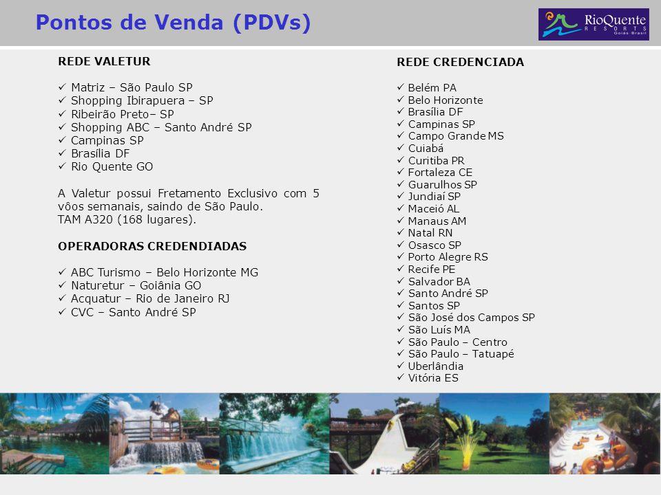 Pontos de Venda (PDVs) REDE VALETUR REDE CREDENCIADA