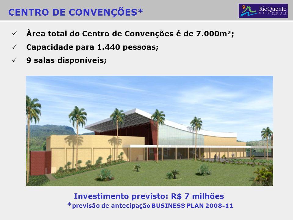 Investimento previsto: R$ 7 milhões