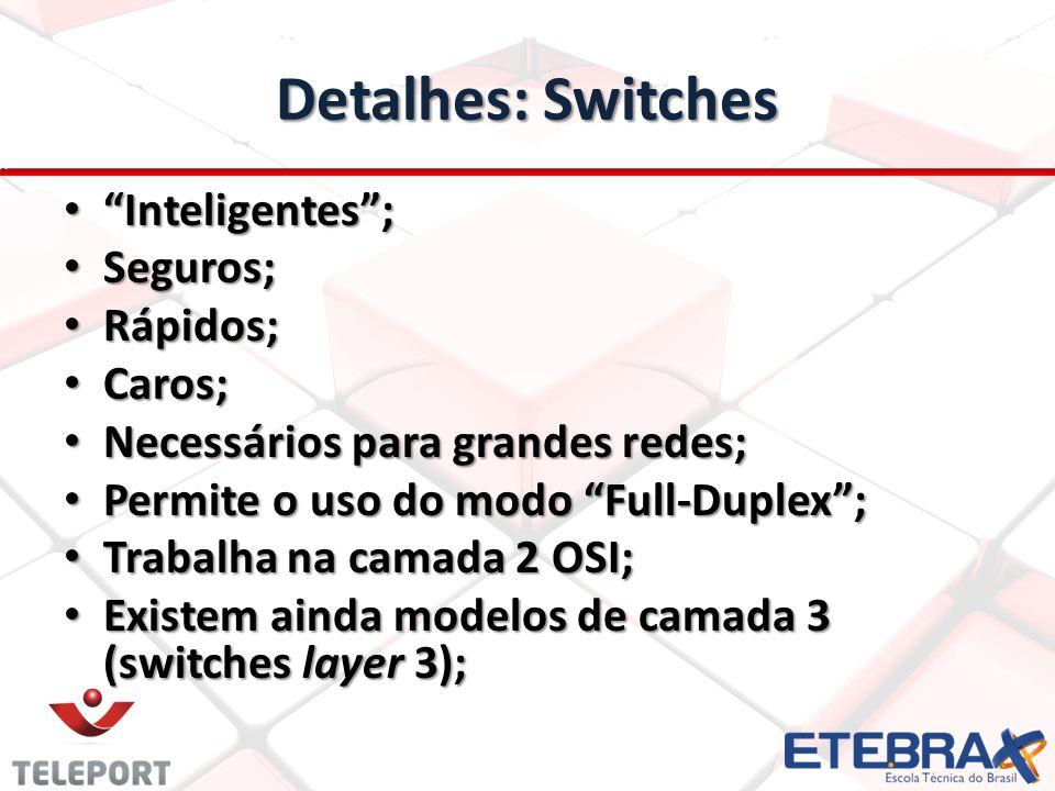 Detalhes: Switches Inteligentes ; Seguros; Rápidos; Caros;