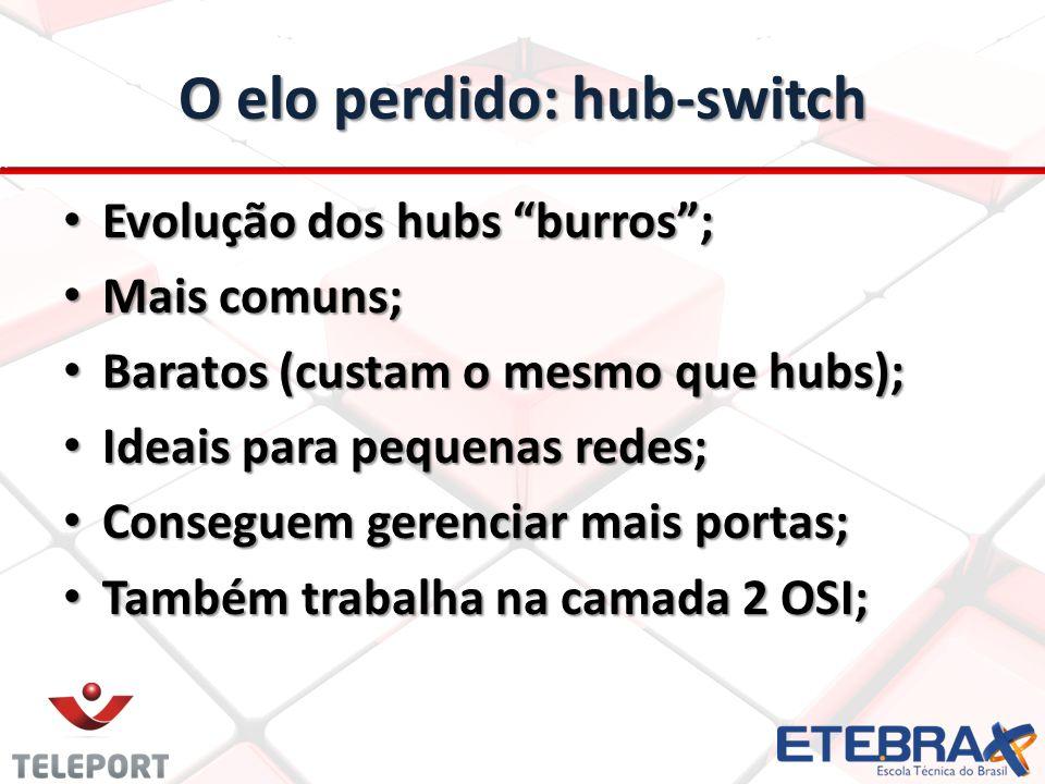 O elo perdido: hub-switch