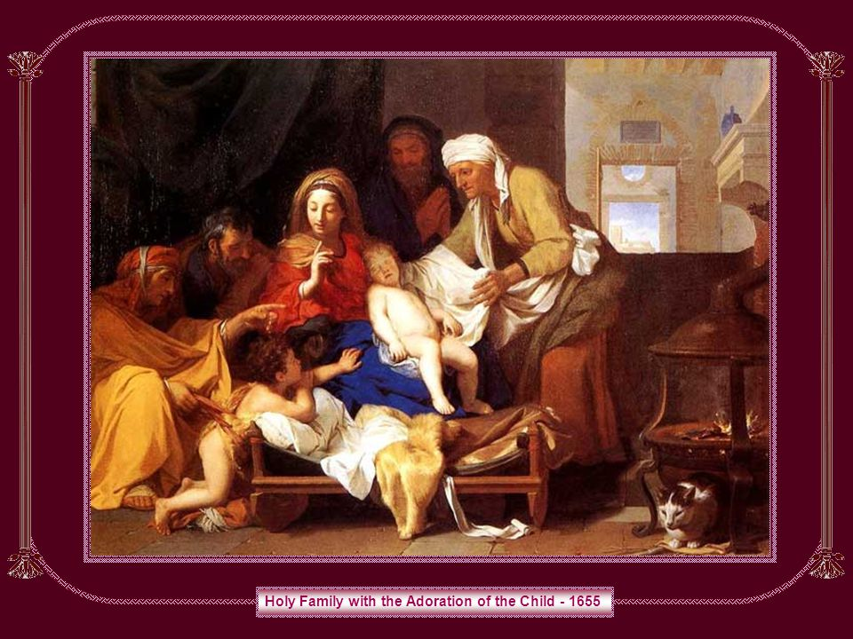 Holy Family with the Adoration of the Child - 1655