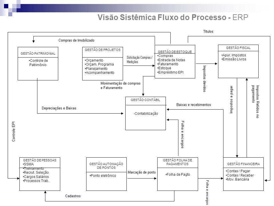 vV Visão Sistêmica Fluxo do Processo - ERPRM