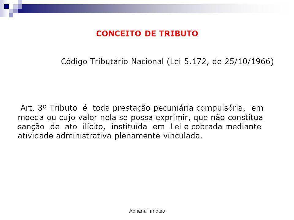 Código Tributário Nacional (Lei 5.172, de 25/10/1966)