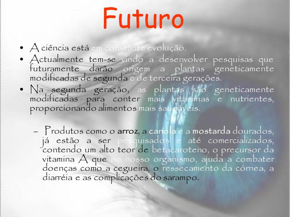 Futuro A ciência está em constante evolução.