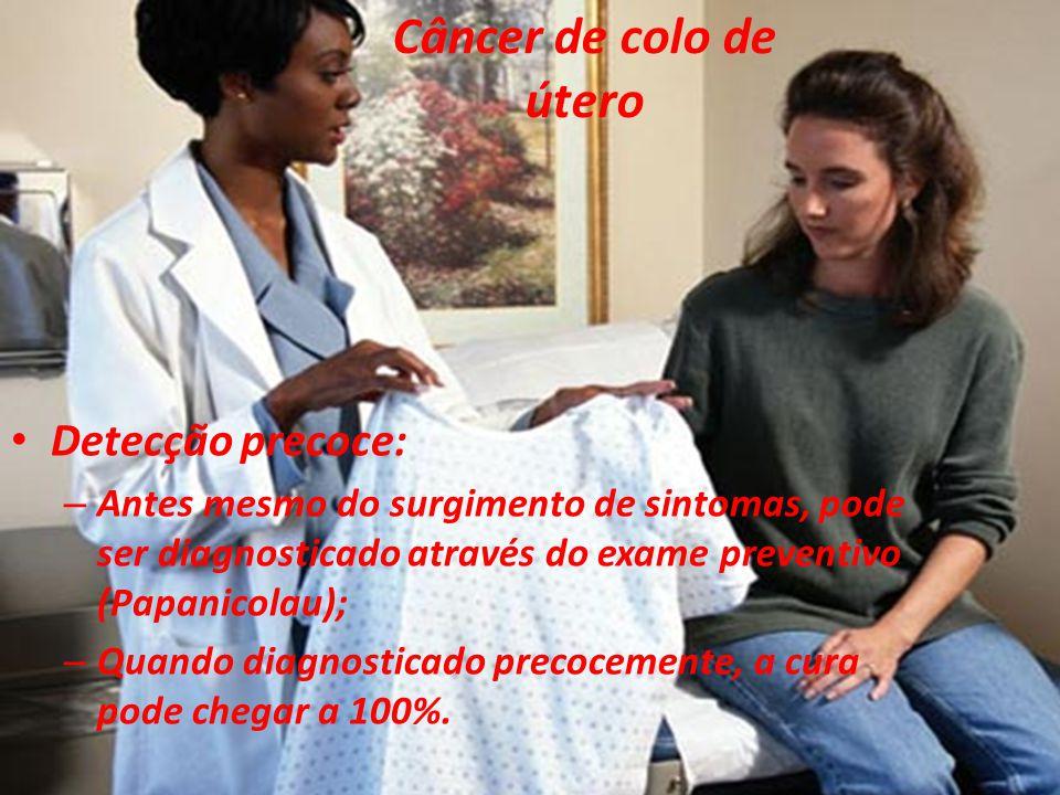 Câncer de colo de útero Detecção precoce: