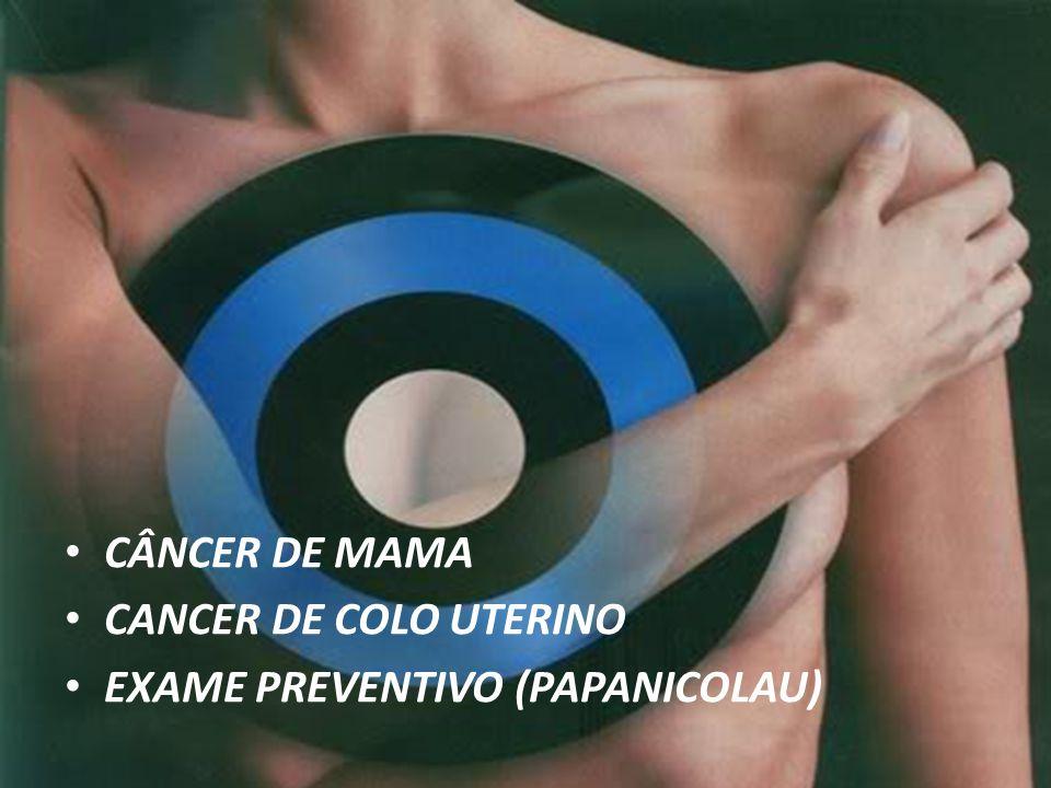CÂNCER DE MAMA CANCER DE COLO UTERINO EXAME PREVENTIVO (PAPANICOLAU)