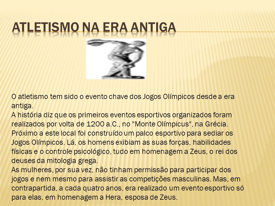 Atletismo na Era Antiga
