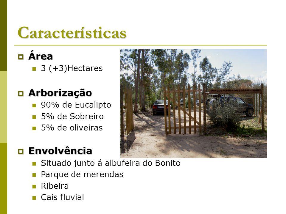 Características Área Arborização Envolvência 3 (+3)Hectares