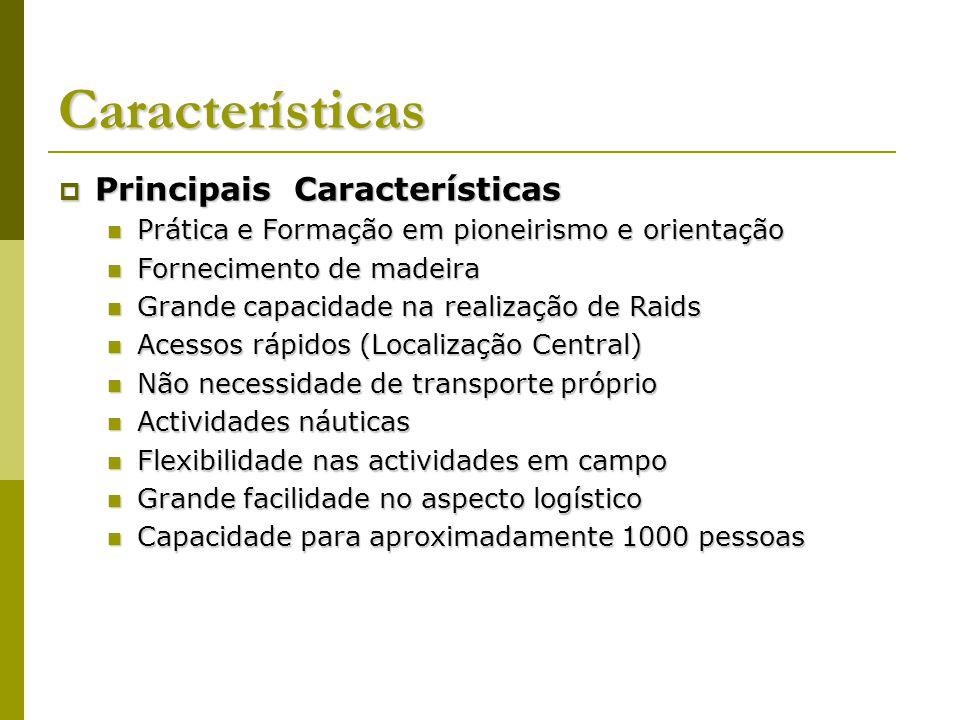Características Principais Características