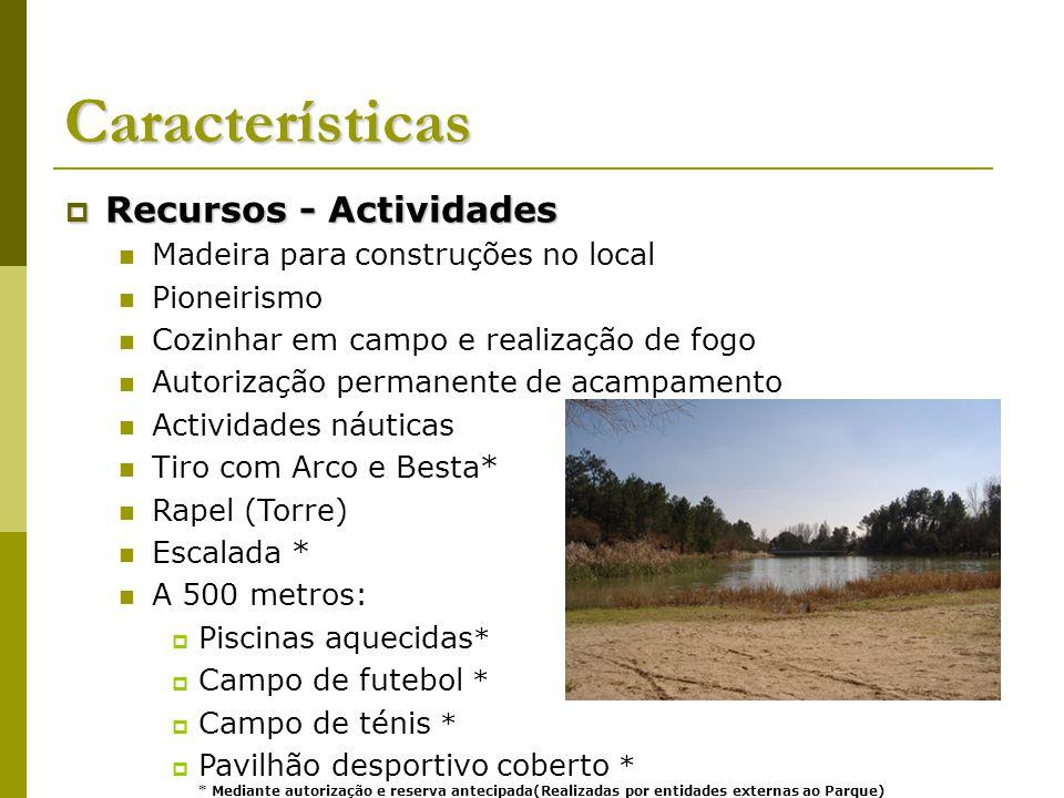 Características Recursos - Actividades