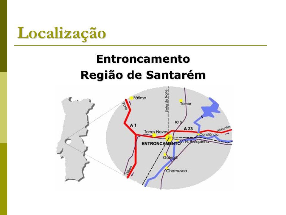 Localização Entroncamento Região de Santarém