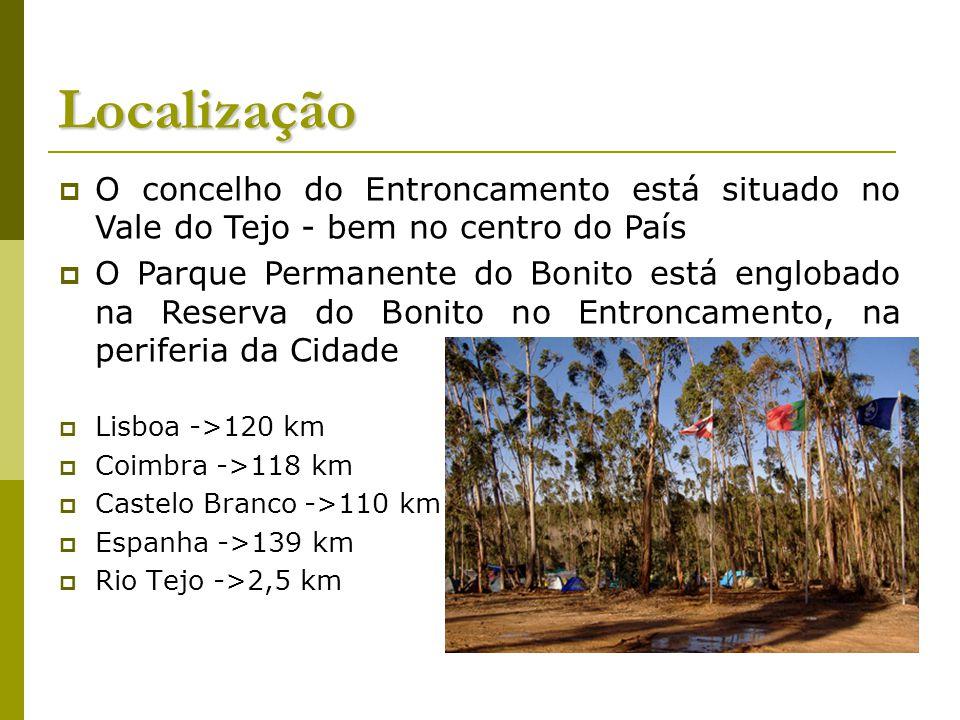 Localização O concelho do Entroncamento está situado no Vale do Tejo - bem no centro do País.
