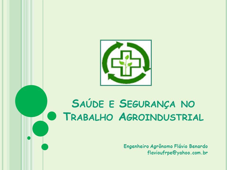 Saúde e Segurança no Trabalho Agroindustrial