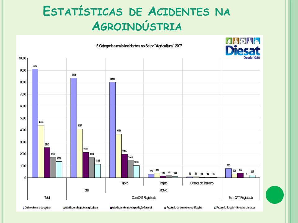 Estatísticas de Acidentes na Agroindústria