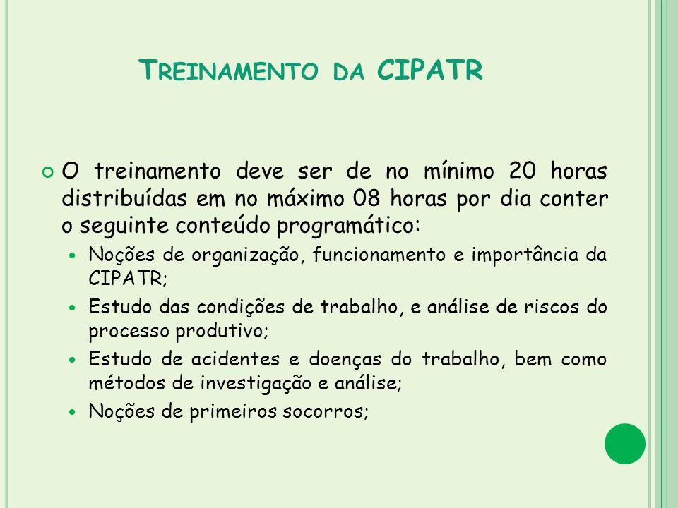 Treinamento da CIPATR
