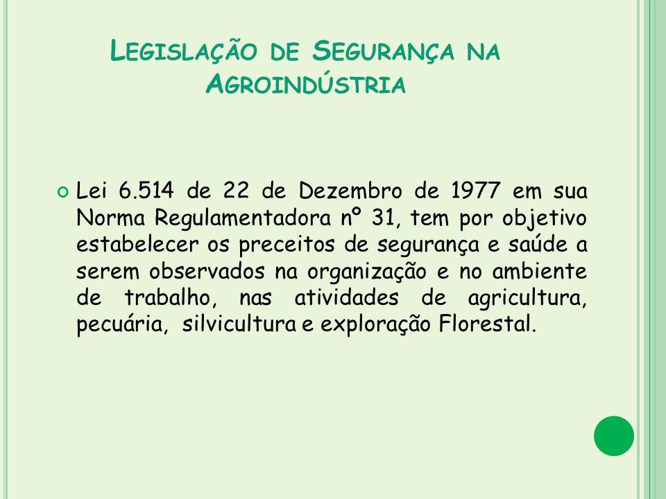 Legislação de Segurança na Agroindústria
