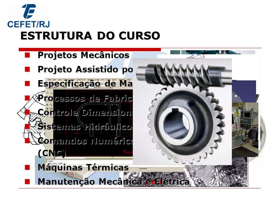 C E F E T / R J ESTRUTURA DO CURSO Projetos Mecânicos
