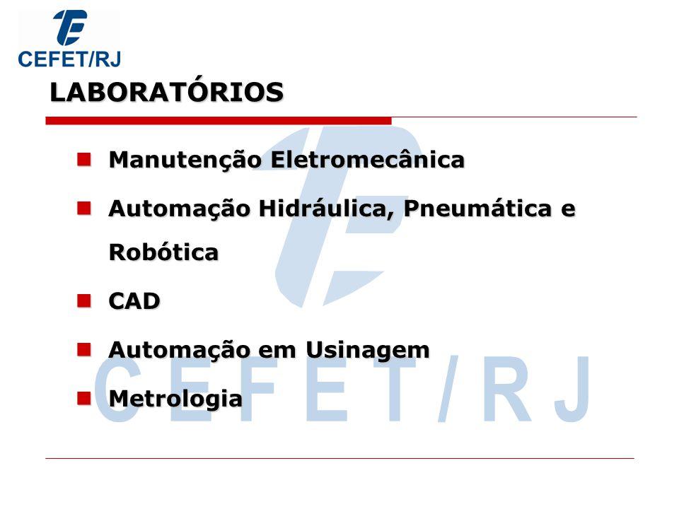 C E F E T / R J LABORATÓRIOS Manutenção Eletromecânica