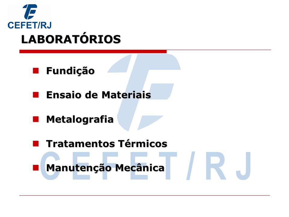 C E F E T / R J LABORATÓRIOS Fundição Ensaio de Materiais Metalografia