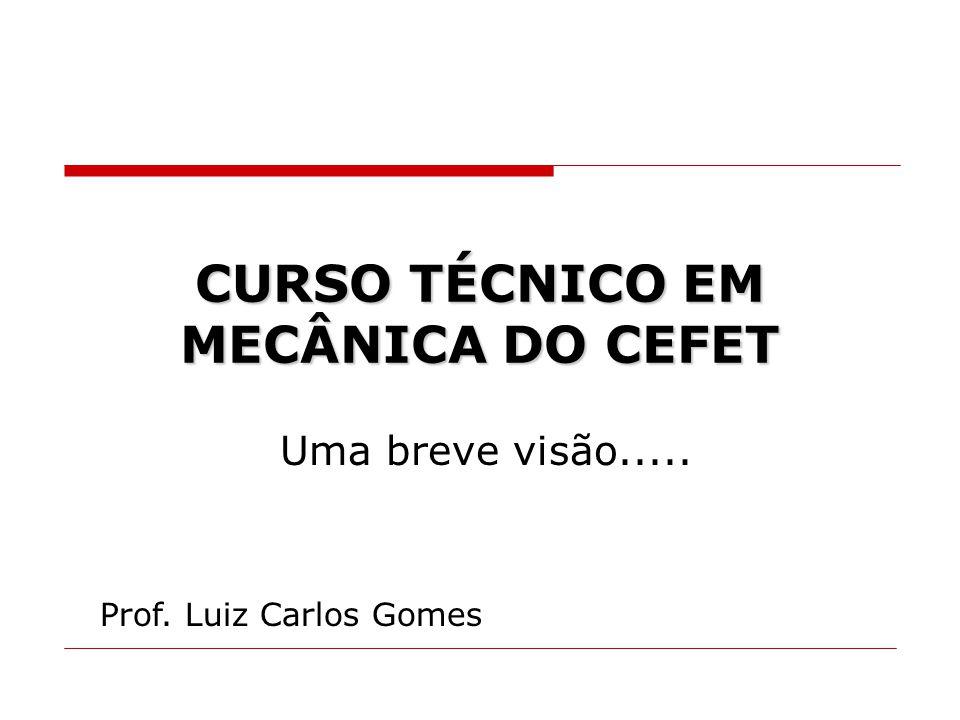 CURSO TÉCNICO EM MECÂNICA DO CEFET