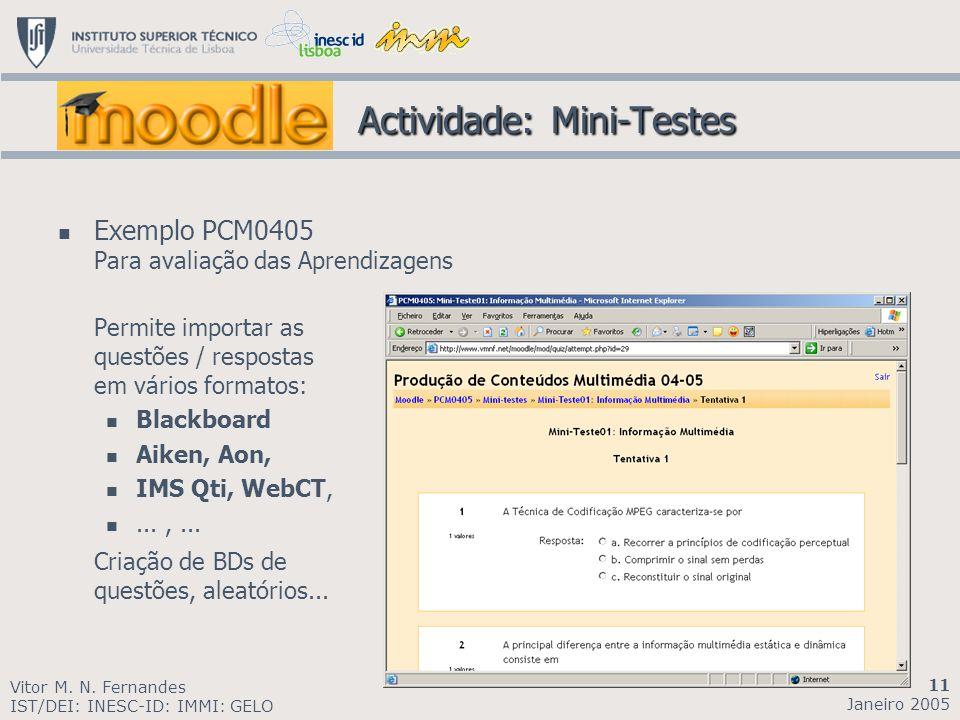 Actividade: Mini-Testes
