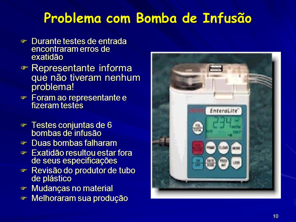 Problema com Bomba de Infusão