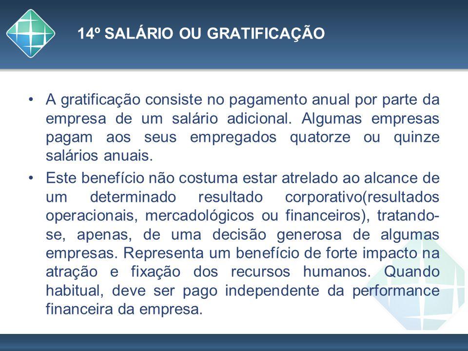 14º SALÁRIO OU GRATIFICAÇÃO